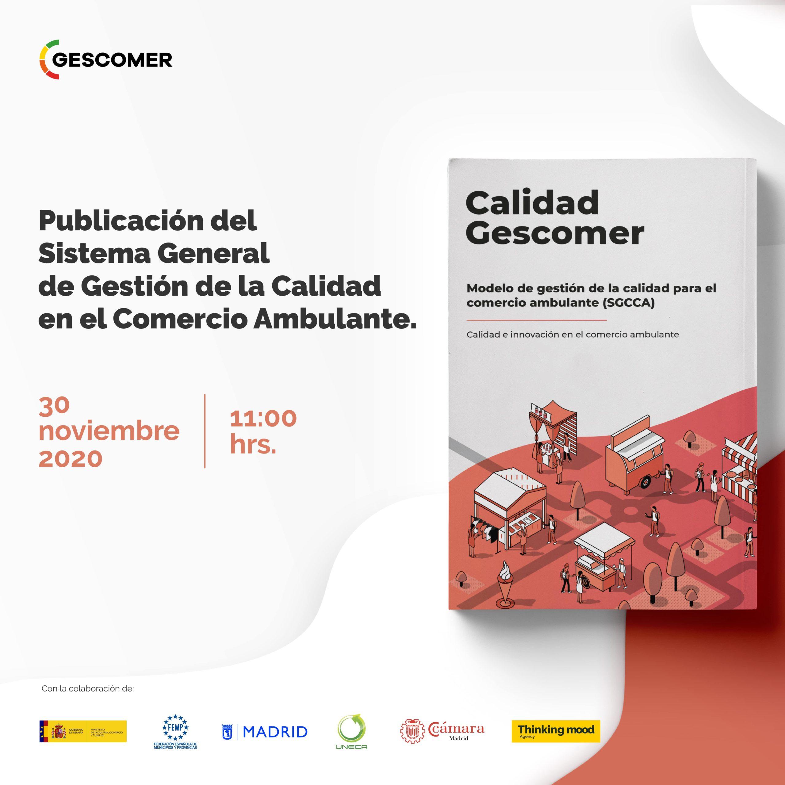 GESCOMER presentará el primer modelo de gestión de la calidad para el comercio ambulante