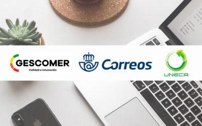 (GESCOMER), SECRETARÍA TÉCNICA DE LA UNIÓN DE EMPRESAS DEL COMERCIO AMBULANTE (UNECA) Y CORREOS, firman convenio de colaboración para la digitalización del sector del comercio ambulante en España.